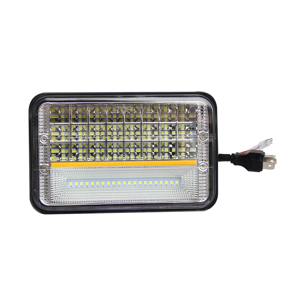 4 x 6 Inch Truck Square Led Headlight With Parking Light JG-1002A