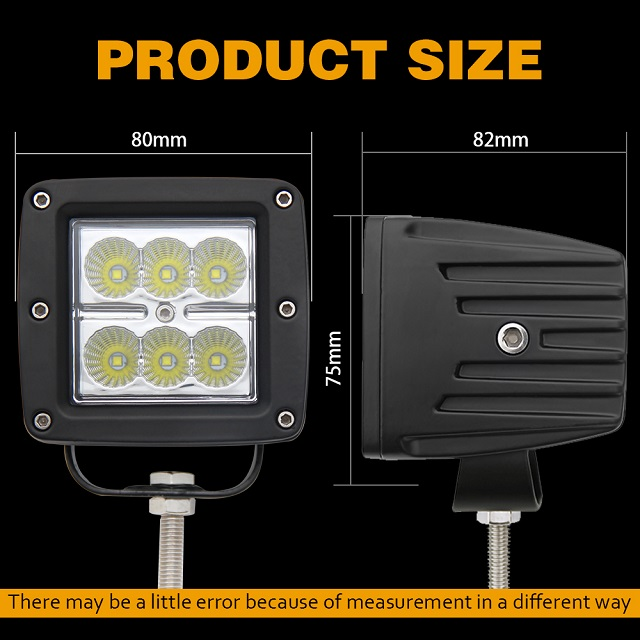 Truck Mounted DC Led Work Light 996 18W