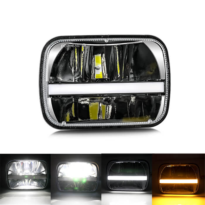 Eagle Series ® 5x7 DRL Jeep Led Headlight T004C