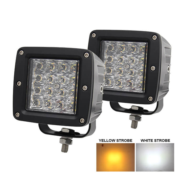 3 Inch Dual Colors Strobe Led Pods JG-995BS