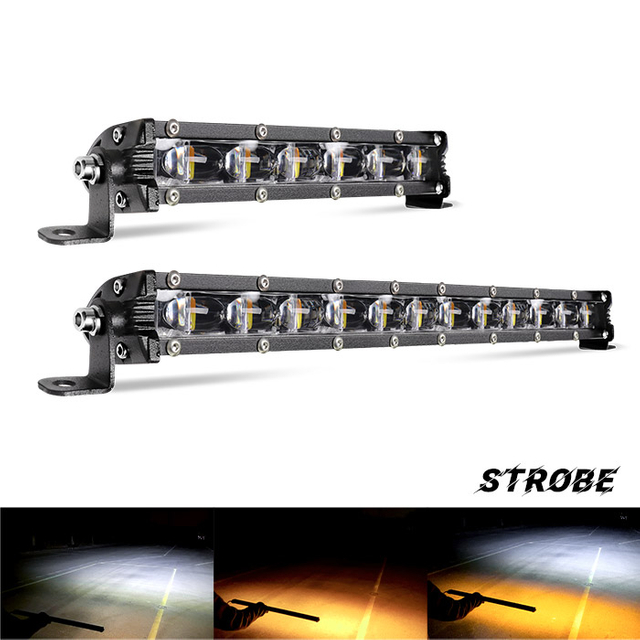 Slim Dual Color Flashing Led Light Bar Supply JG-9610Z-BS