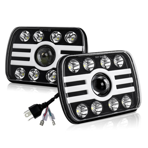 7x6 Dual Color Angle Eyes Led Headlights JG-T002H