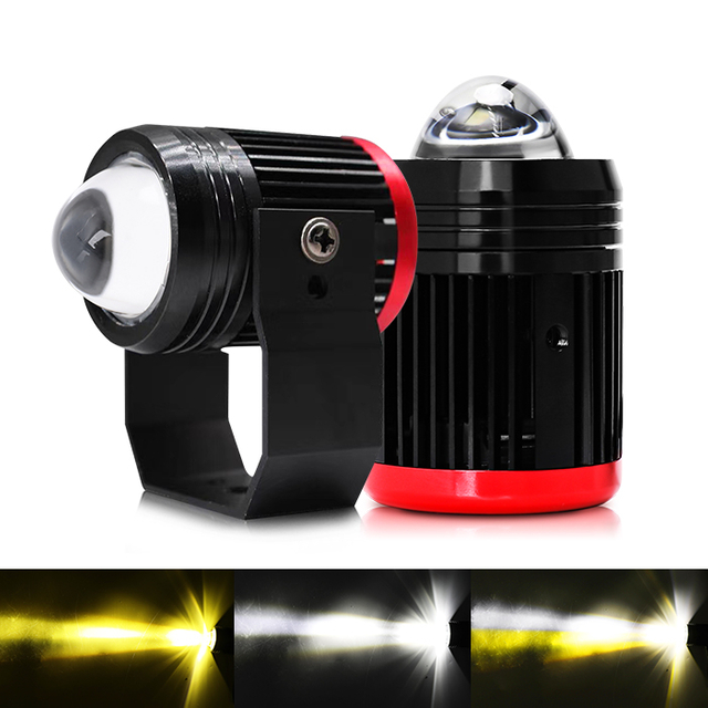 Motorcycle External Flashing Dual Colors Led Motorcycle Spotlights JG-993A