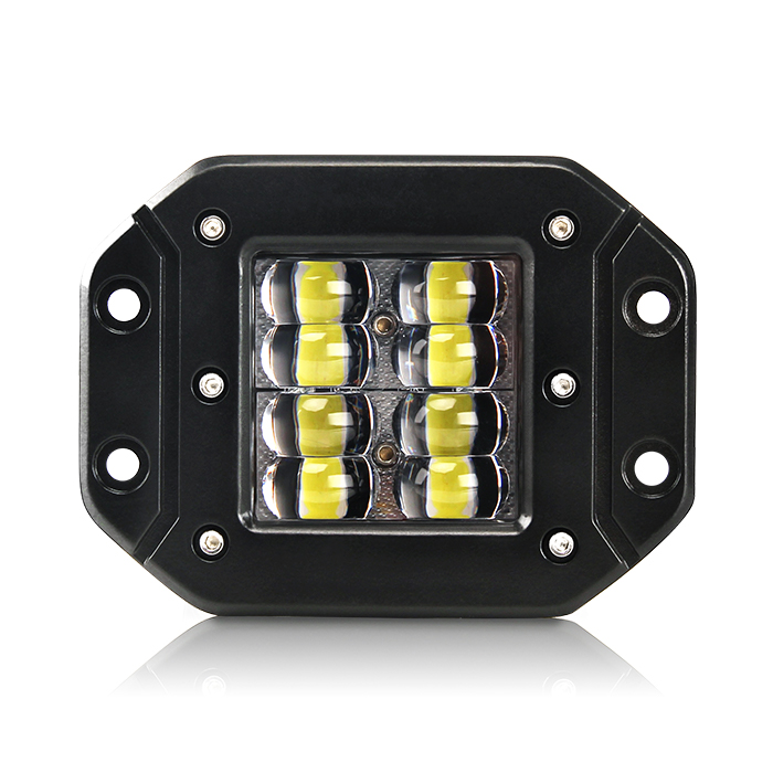 "5"" Flush Mount Flashing Led Pods JG-995DB-8"
